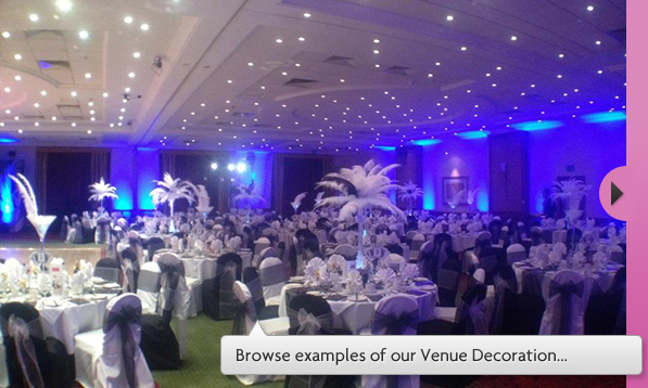 Lets Celebrate Wedding Stationery Chair Covers Venue Decoration